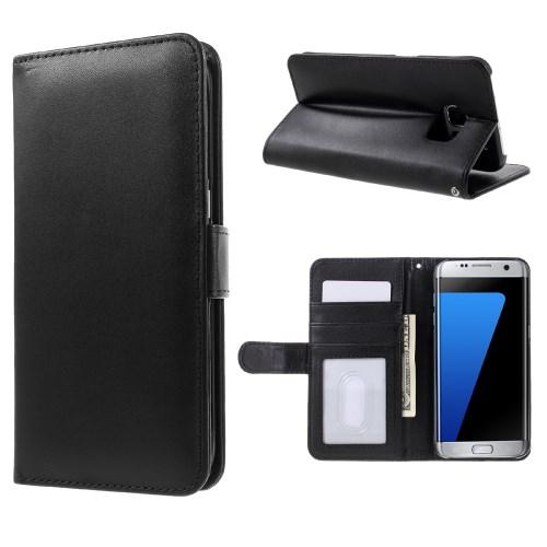 0b152eaf25d Galaxy S7 edge - must plastik / pu nahk rahakott / koos hoidjaga ümbris -  Telefoniümbrised   KEISSER😆🤳