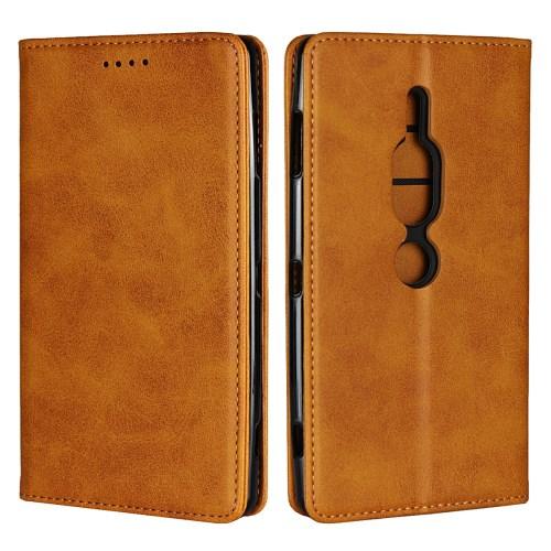 1fde57c6e33 Product image · Xperia XZ2 Premium - pruun pu nahk / tpu rahakott / koos  hoidjaga ...