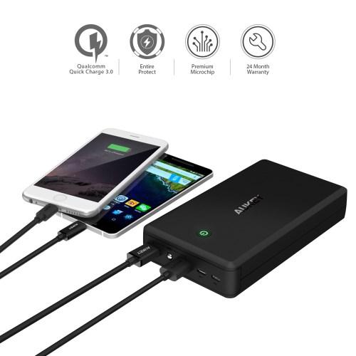 7a423334508 AUKEY PB-T11 30000mAh 2-Port USB akupank + 3.0 - Telefoniümbrised ...